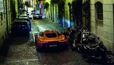 Jaguar C-X75 in Rome