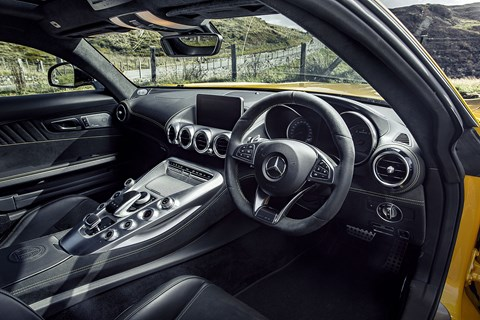 AMG's centre console doubles as an aircraft carrier