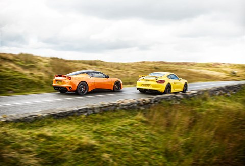 Both brilliant, but would you take the Lotus, or settle for the Cayman and £7500 change?