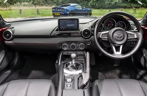 MX-5:  sweet steering, sweet gearchange, sweet pedal positions