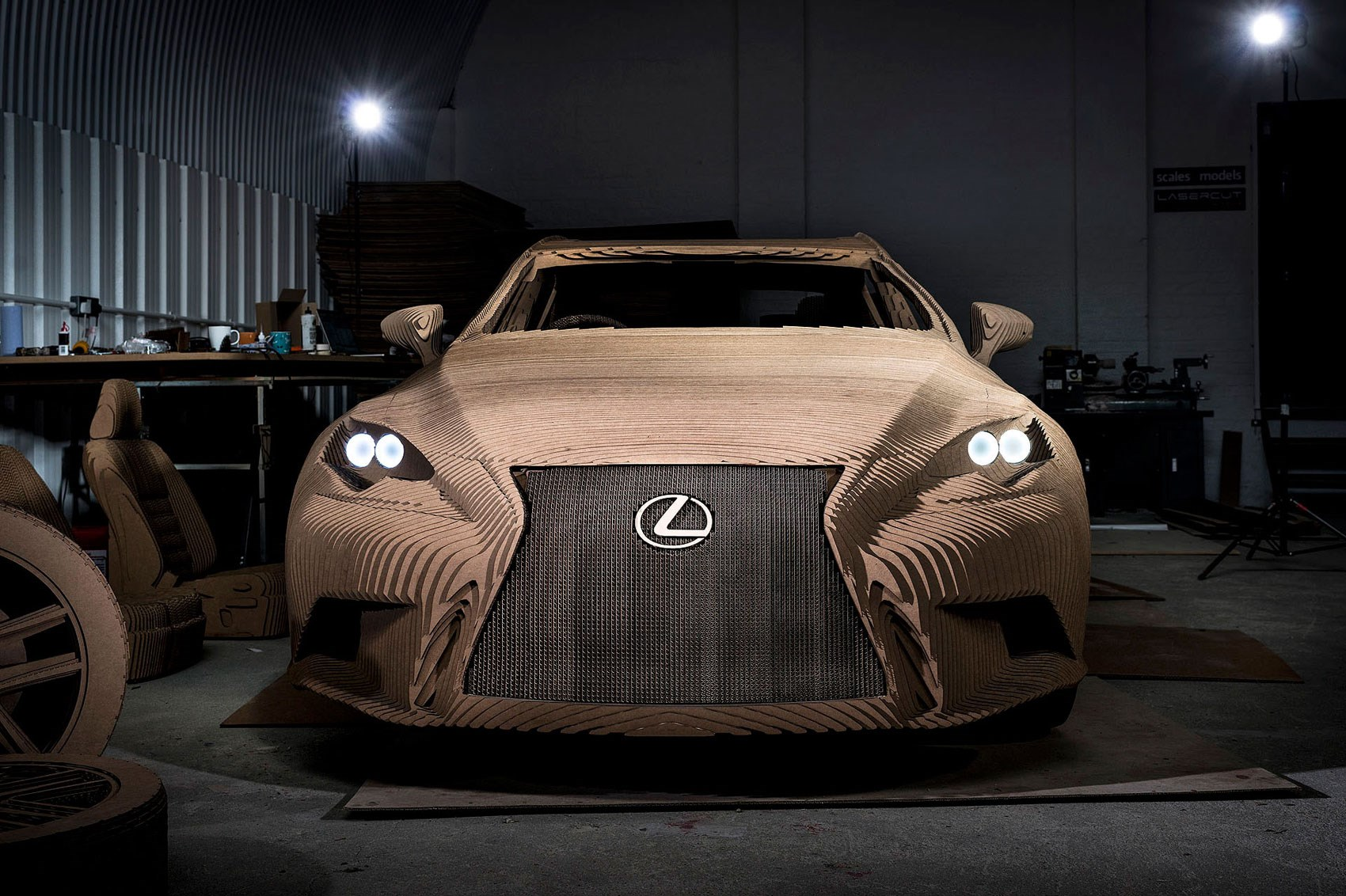 The Origami Inspired Lexus IS Thats Made Out Of Cardboard