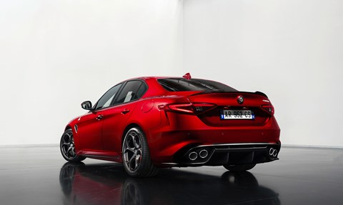Quadrifoglio, or Cloverleaf, is Giulia's launch spec. 191mph and 0-62 in 3.9sec