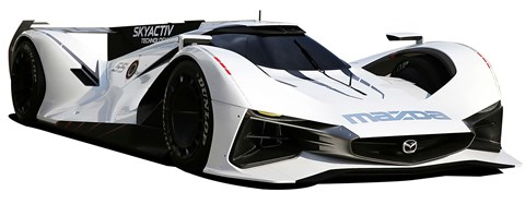 Mazda LM55, first seen at the 2015 Goodwood show, virtually it'll eclipse the old 787b with a 290mph top speed