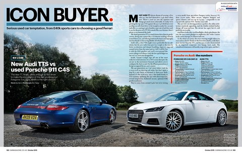 Used 911 vs new TTS from our October issue. Or buy the Boxster