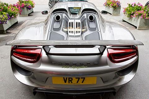 Porsche 918 in Italy