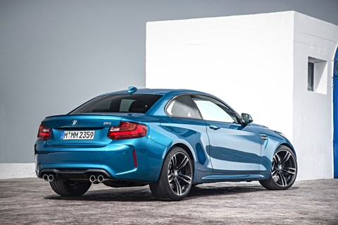 The rear end of the new 2016 BMW M2
