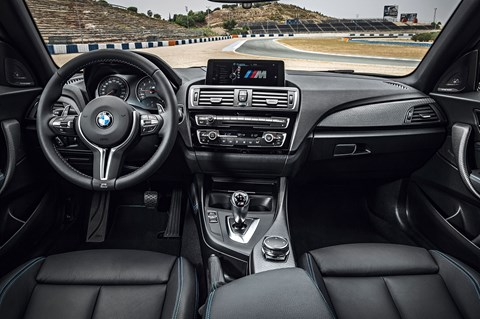 A purposeful cabin inside the BMW M2