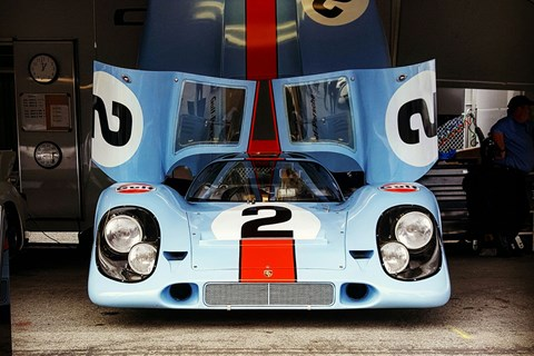 Open for business. Brit squad JW Automotive were the race team behind the original iconic Gulf-liveried 917s