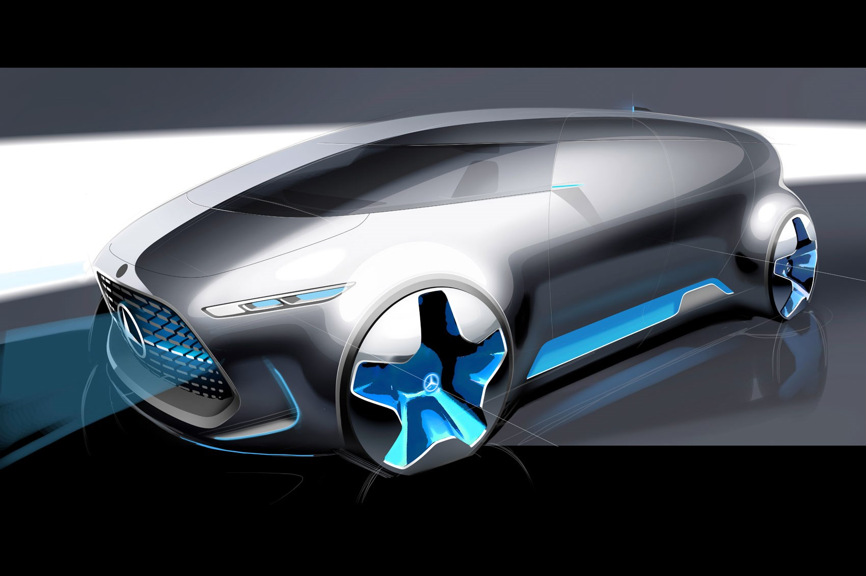 mercedes benz vision tokyo lounges about at the 2015 tokyo