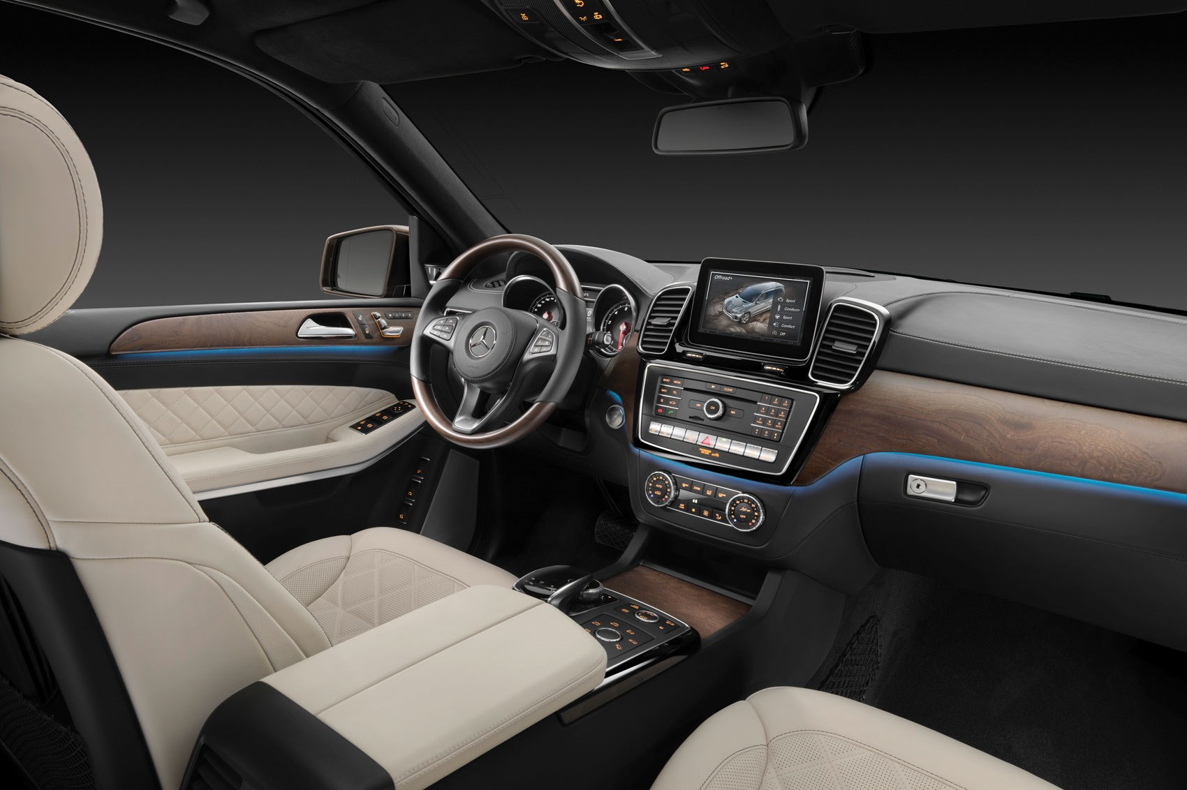 The Gls Is A Car New Instrument Panel Steering Wheel Colours Trims Connectivity Inside