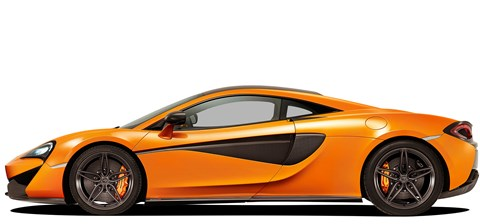McLaren 570s uses aluminium panels rather than the 650s' composite body