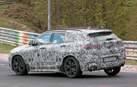 BMW X2: we spied it at Nurburgring