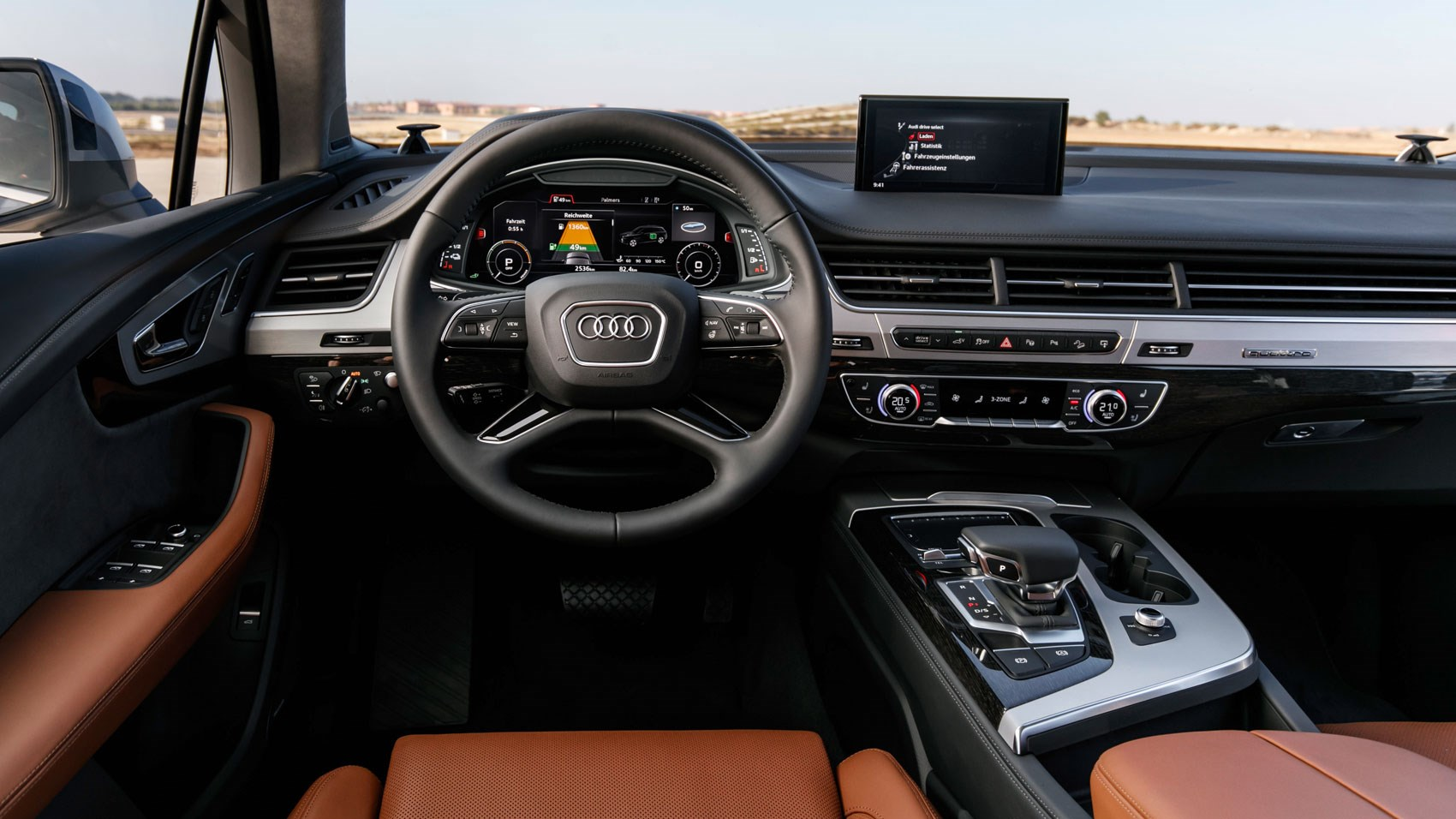 audi q7 e tron 2016 plug in hybrid review by car magazine. Black Bedroom Furniture Sets. Home Design Ideas