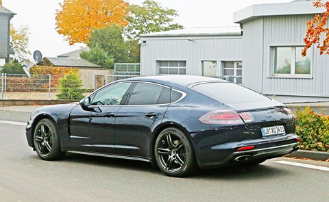 A sexier Panamera? From the spy shots it looks as though Porsche has bucked its ideas up