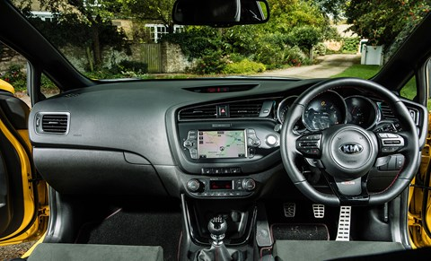 An old-school hot hatch, complete with old-school dash plastics