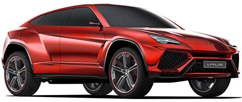 Lamborghini Urus due 2018 uses Audi's full-size SUV platform