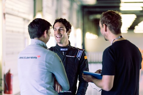 Bruno Senna: a bit handy in a McLaren on track