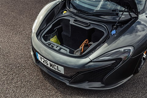The McLaren 650S Spider front boot
