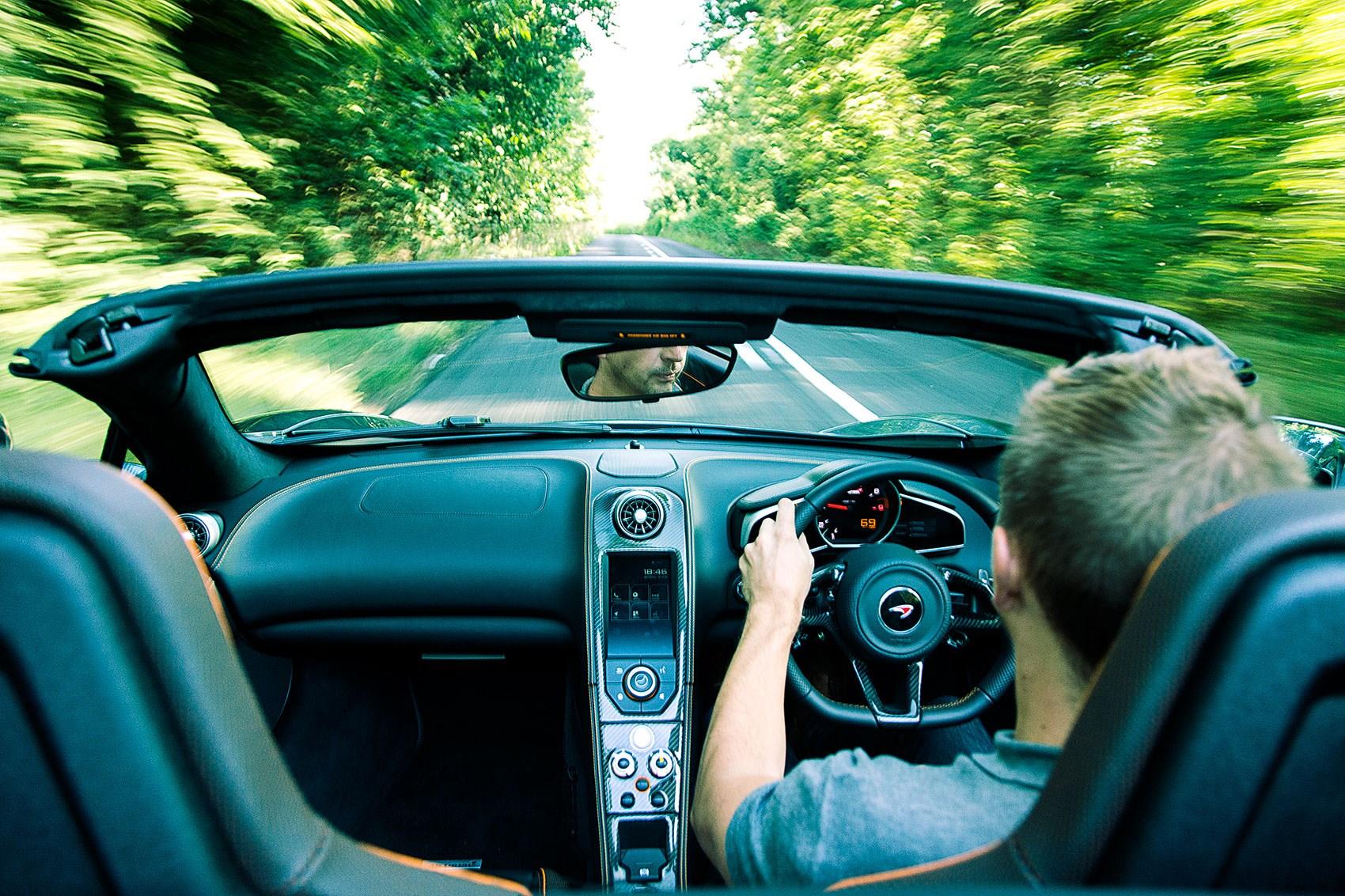 Ben Miller Driving The McLaren 650S Spider