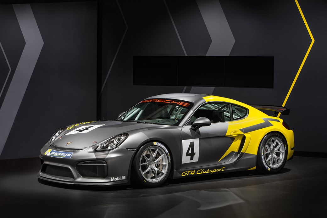 The new 2016 Porsche Cayman GT4 Clubsport