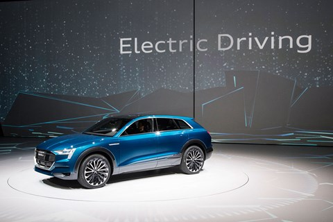 Audi's take on the electric SUV: the Q6-previewing E-tron concept