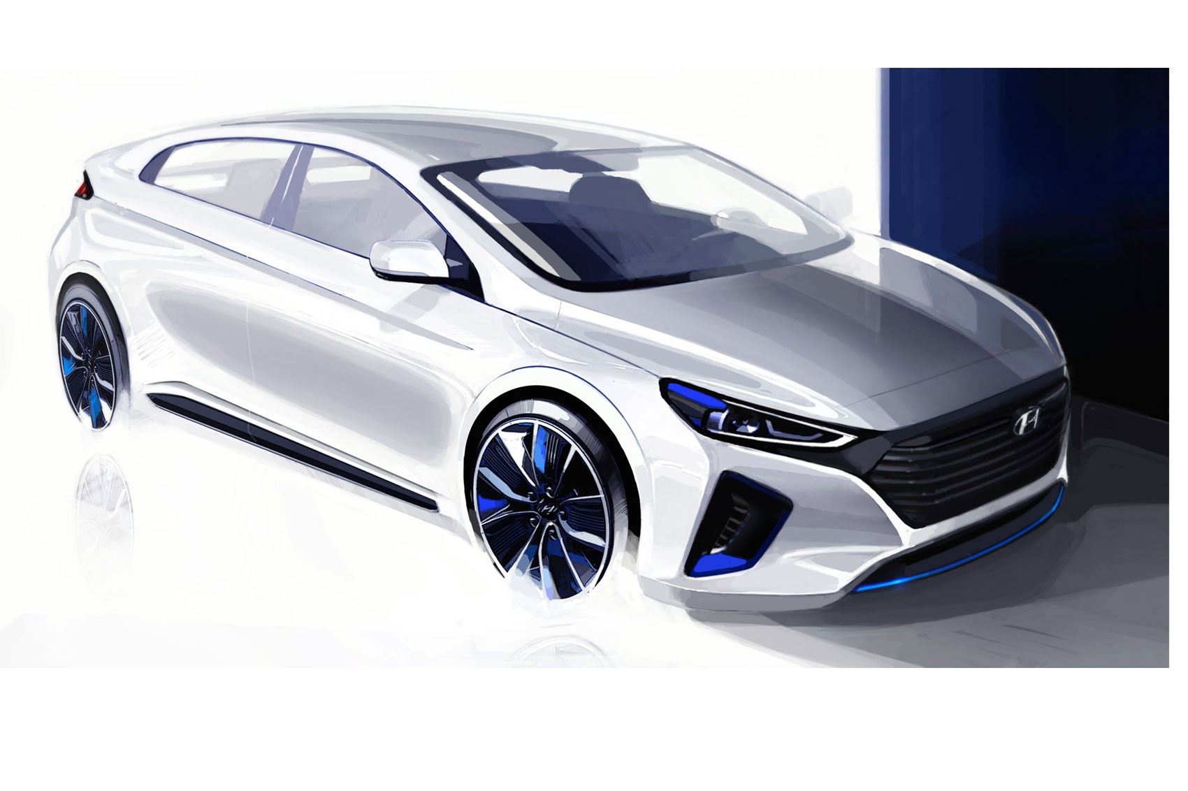 electric trifector new hyundai ioniq with ev phev and hybrid power by car magazine. Black Bedroom Furniture Sets. Home Design Ideas