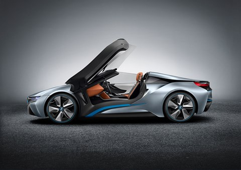 The previous BMW i8 Spyder concept car from 2012