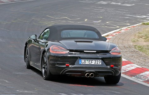 The new 718 Boxster out on test
