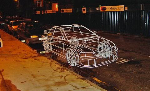 Wireframe Impreza by Benedict Radcliffe