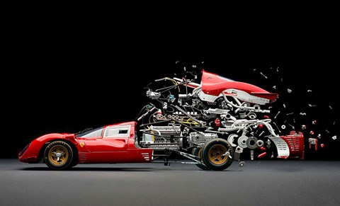 Disintegrating cars by Fabian Oefner