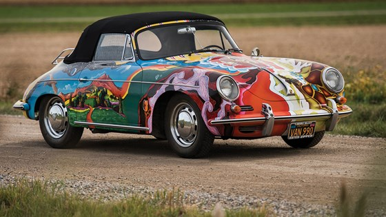 Janis Joplin's psychedelic Porsche sold at auction for £1.2m