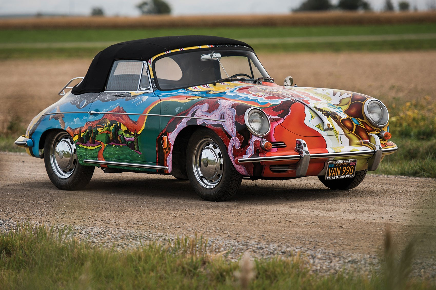 Janis Joplin S Psychedelic Porsche Sold At Auction For 163 1