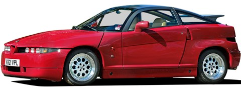 Alfa SZ Zagato is the most expensive on this list at around £50-£80k