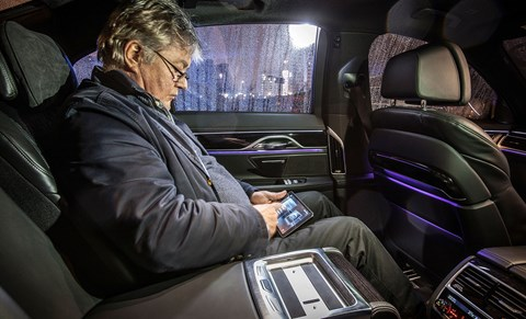 Tablet mounted centre armrest allows you to control lighting, air-con and multimedia