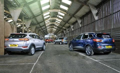 Renault Kadjar vs Hyundai Tucson vs Nissan Qashqai vs Skoda Yeti