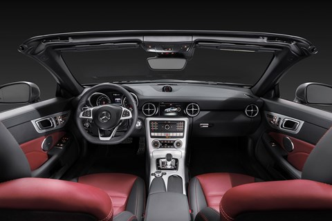 Inside cabin of new Merc SLC