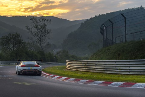 Racing at the Nurburgring Nordschleife