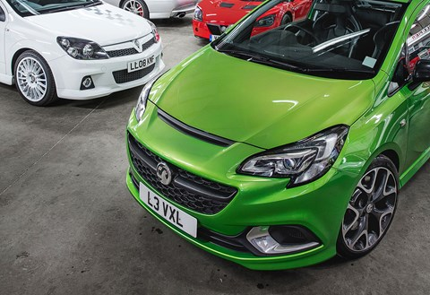 Our Corsa VXR at the Vauxhall Heritage Centre
