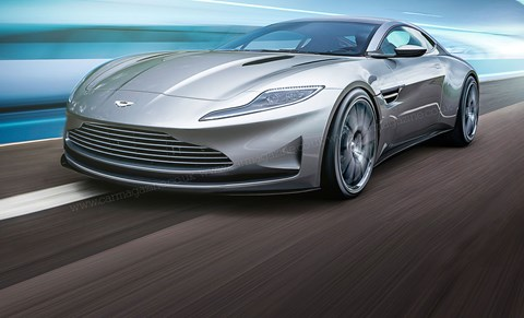 CAR's artist's impression of the Aston Martin DB11 (R.Varicak/Motor Forecast)