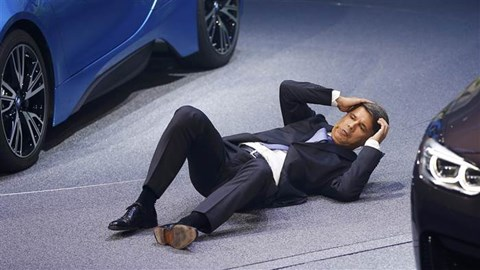 BMW CEO Krueger collapses mid-speed at Frankfurt motor show
