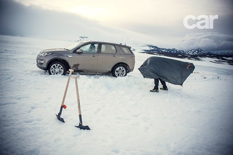 What happens if you go camping in a Land Rover Disco Sport in the Arctic
