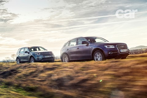 Audi Q5 meets Land Rover Discovery Sport in Norfolk