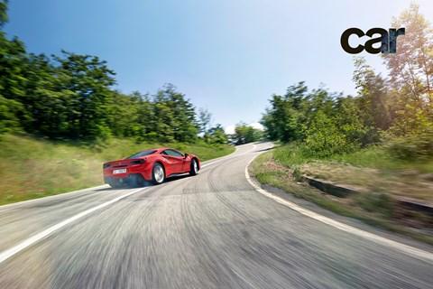 The art of motion: Ferrari 488 GTB sideways, turbos a-spinning