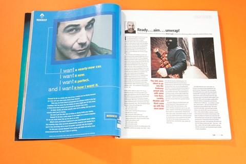 Ready... aim... unwrap! Alexei Sayle, CAR magazine, July 1999