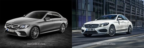 Mercedes E-class and Mercedes C-class