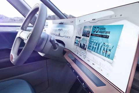 VW BUDD-e dashboard
