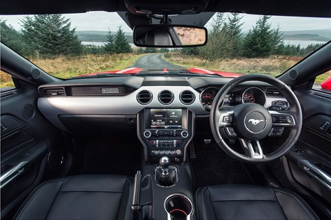 The Mustang gets a healthy amount of equipment as standard, including the infotainment system. You'll pay for the sat-nav though