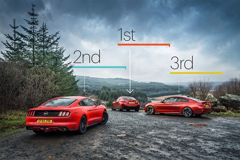 Perhaps a surprising result to the outside, but drive the three and you'll know that the RC F comes out as top trump