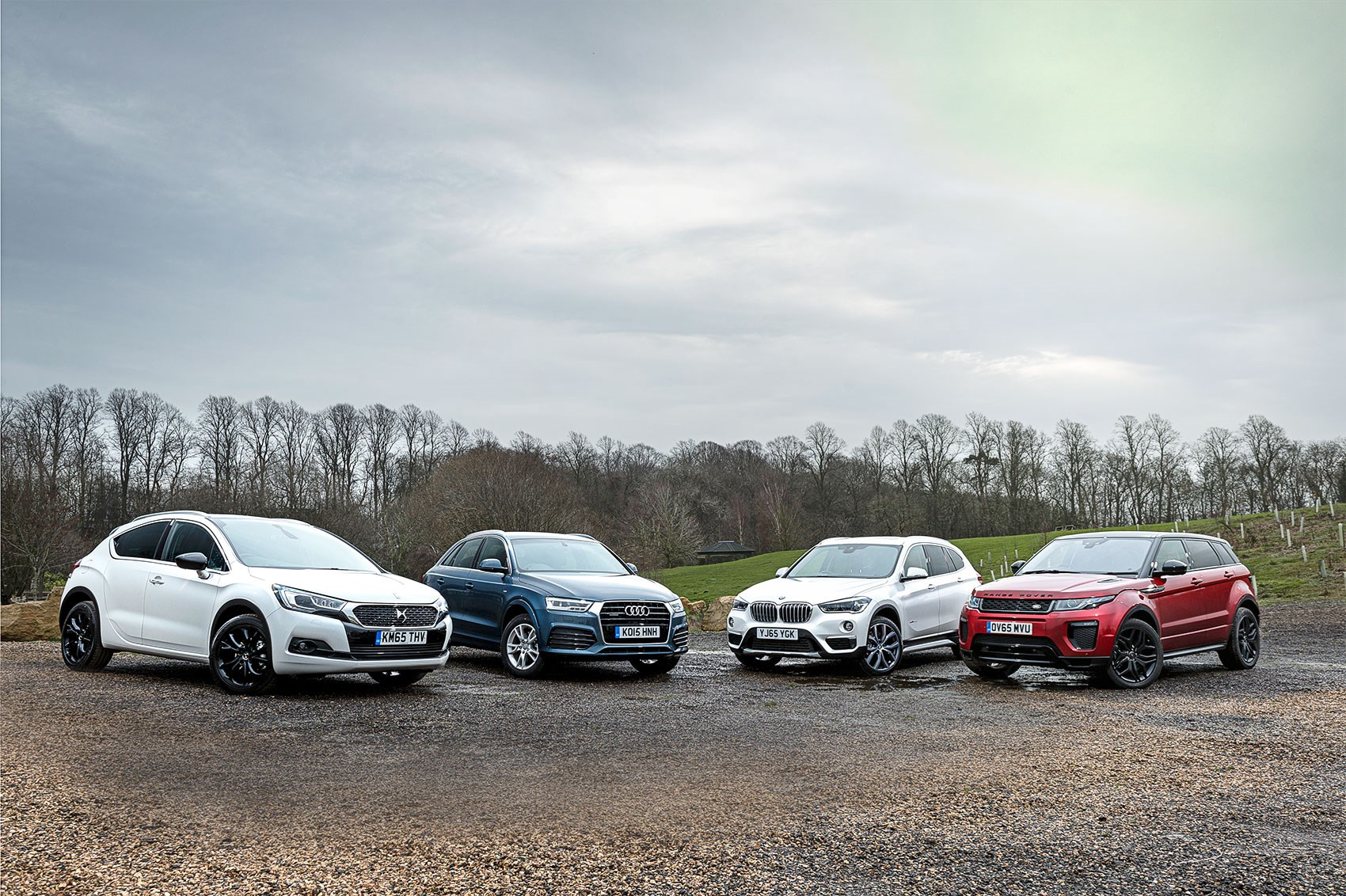 DS4 Crossback vs Audi Q3 vs BMW X1 vs Range Rover Evoque: quick