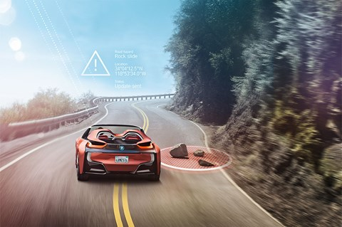 Rock fall ahead. BMW's i Future Vision concept will drive for you